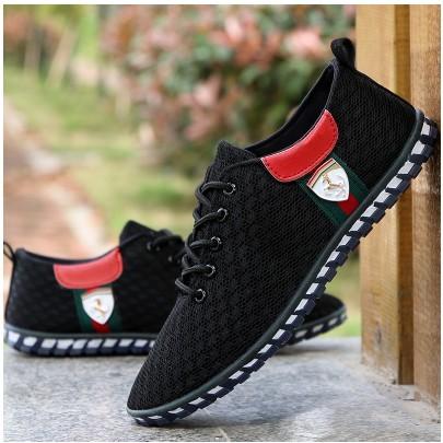 布鞋新品男鞋 透氣網面鞋男士休閒鞋板鞋 網鞋男單鞋