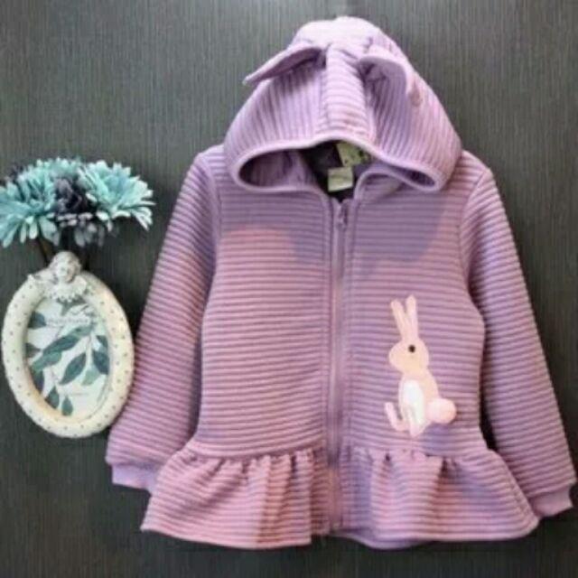 韓國 女童小兔刺繡連帽外套