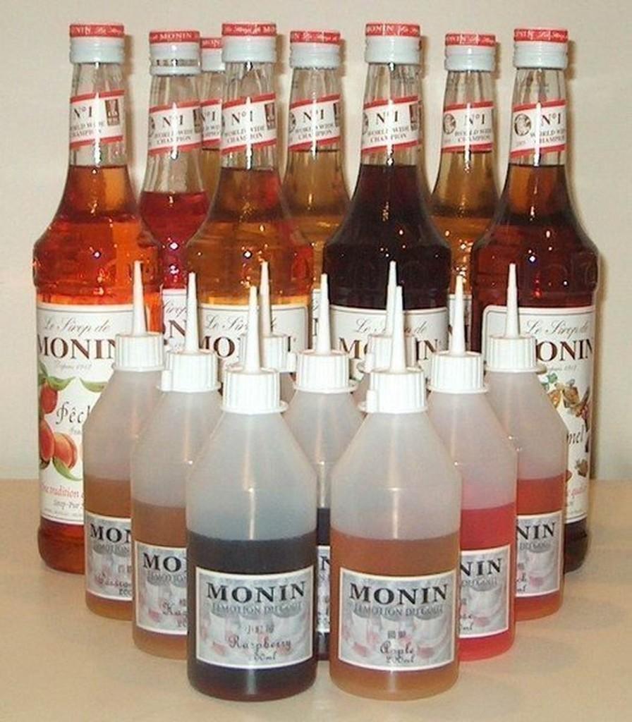 ~米拉羅咖啡~MONIN 果露糖漿焦糖、榛果、香草、蘋果、玫瑰、藍柑橘小瓶200cc 分裝