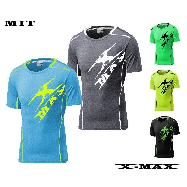 抗漲6 折X MAX DC 美式圖騰短袖T 恤男款 戶外休閒爬山釣魚健身排汗透氣大學T 系