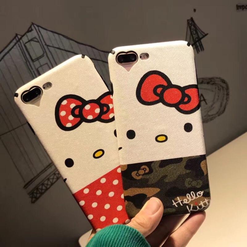 韓國可愛卡通貓咪蘋果iphone7 手機殼iphone6splus 保護套蠶絲7plus