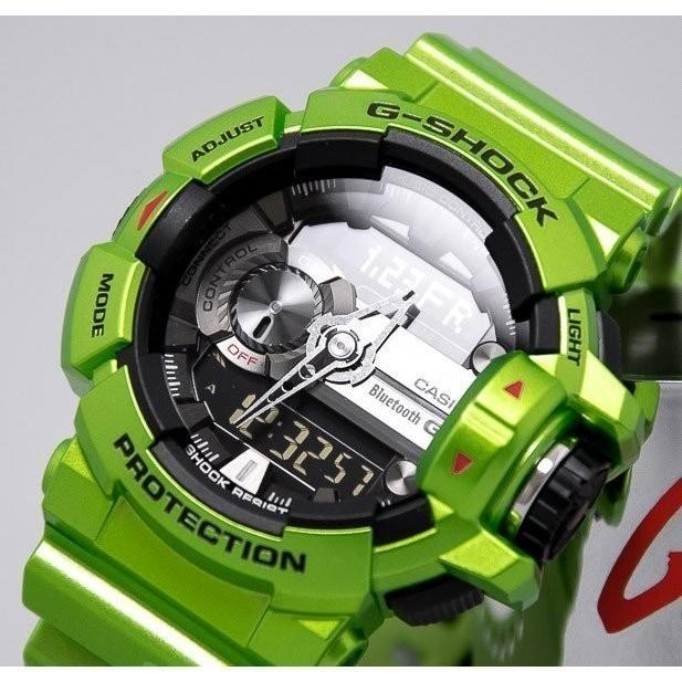 CASIO G SHOCK 卡西歐GBA 400 3B 大錶徑音樂控制藍芽炫彩綠色綠黑