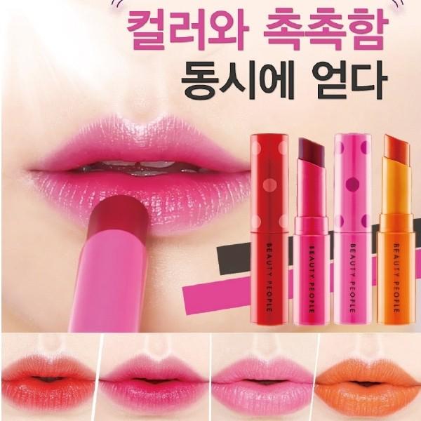 韓國BEAUTY PEOPLE 泡泡糖不掉色冰感口紅3 5g 4 色