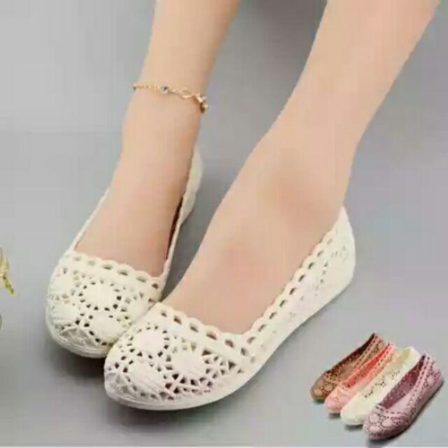 四色娃娃鞋防雨鞋洞洞鞋涼鞋平底鞋