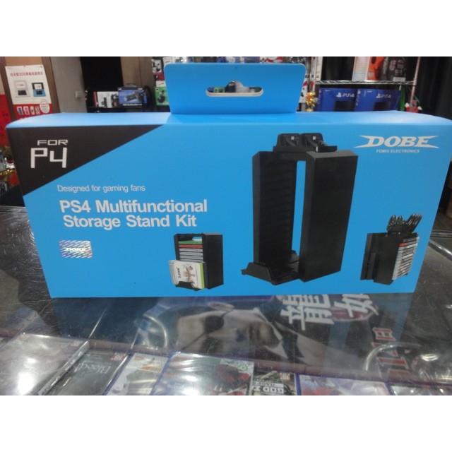 多 PS4 遊戲置片架主機直立架手把充電座架不含手把充電座副廠DOBE 品~遊戲頻道~