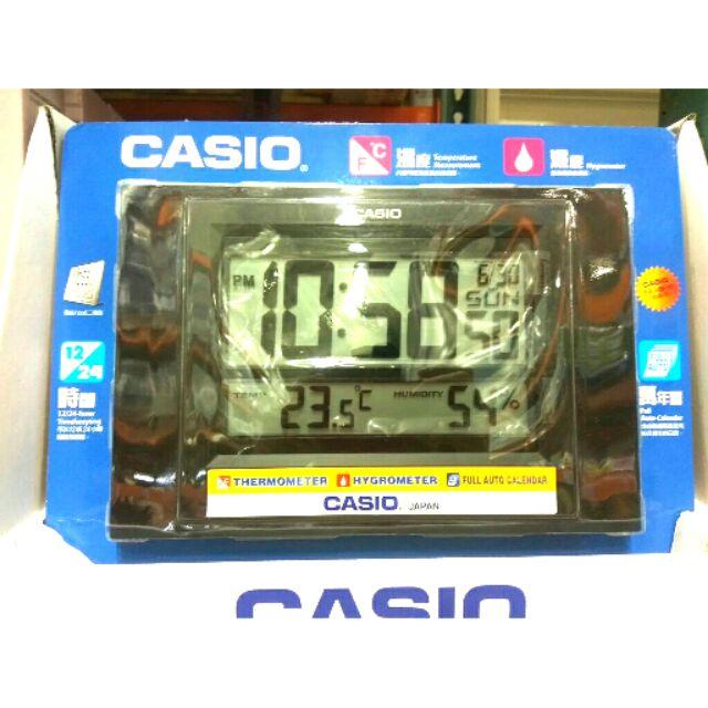 為止 909 元好市多CASIO 溫溼度電子掛鐘ID 16 溼度計溫度計