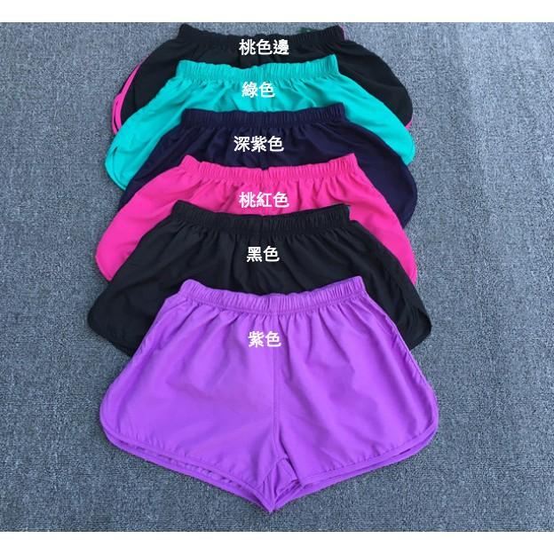 6 色健身訓練 速乾排汗短褲休閒 可愛瑜伽褲跑步褲女