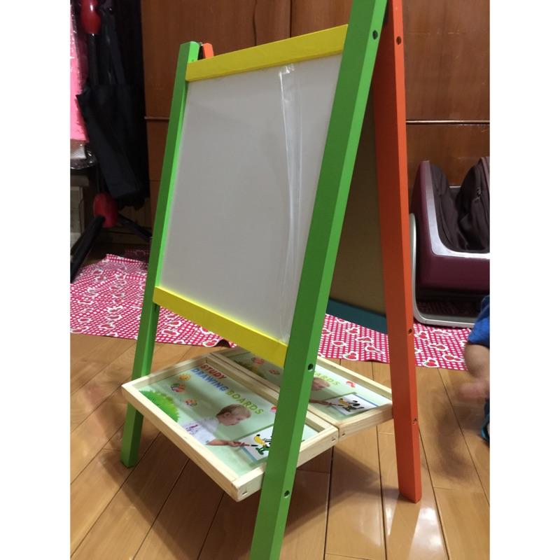 小畫家木製立體雙面畫板免
