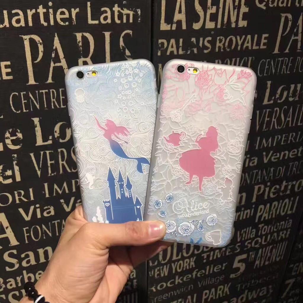 iphone6 手機殼愛麗絲美人魚矽膠蘋果7plus 透明氣墊防摔套i7 保護殼