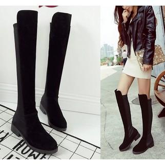 嗆口小辣椒女靴修腿長筒靴真皮彈力靴過膝長靴高筒靴皮靴SW5050