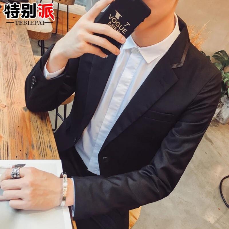 男士西裝青年 修身西服外套男春秋 男裝上衣英倫小西裝