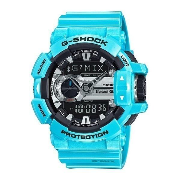 CASIO G SHOCK 卡西歐GBA 400 2C 大錶徑音樂控制藍芽炫彩淺藍水藍
