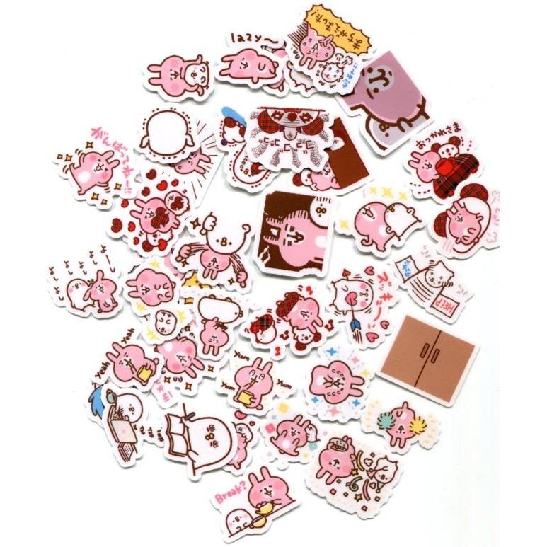 卡娜赫拉小兔子自制手帳手機卡通防水貼紙40 張470