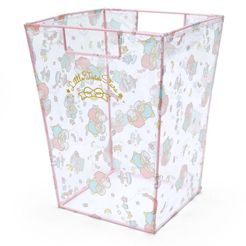~PINK ~雙子星kikilala 粉色透明垃圾桶置物箱