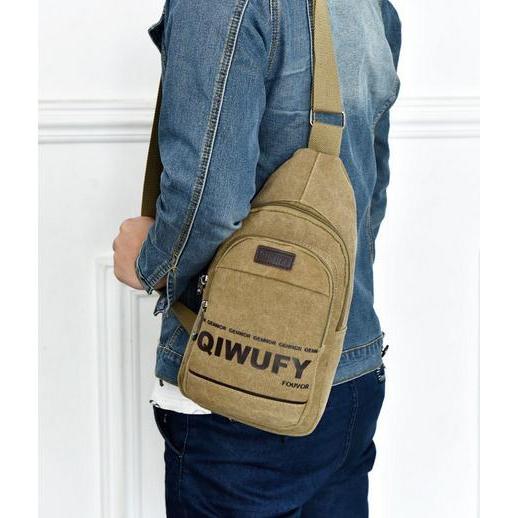 按~魔女收纳~男士胸包帆布包斜背包側背包手機包手機袋 帆布胸包斜挎包IPAD 電腦包輕便包