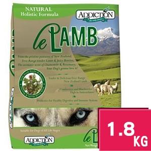 ~超取限2 包~紐西蘭Addiction 自然癮食無穀野牧羊肉全犬狗飼料1 8kg
