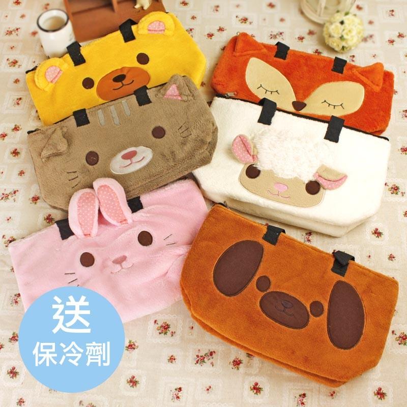 可愛動物 保溫保冷兩用手提包手提袋野餐收納包收納袋便當袋媽媽包