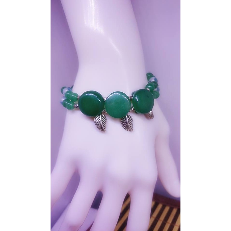 綠30 東菱玉彈性手鍊