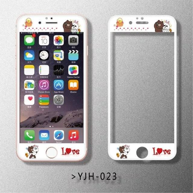 2 ️⃣多款卡通浮雕鋼化膜前膜滿版鋼化膜iphone6 6s 卡通iphone6plus