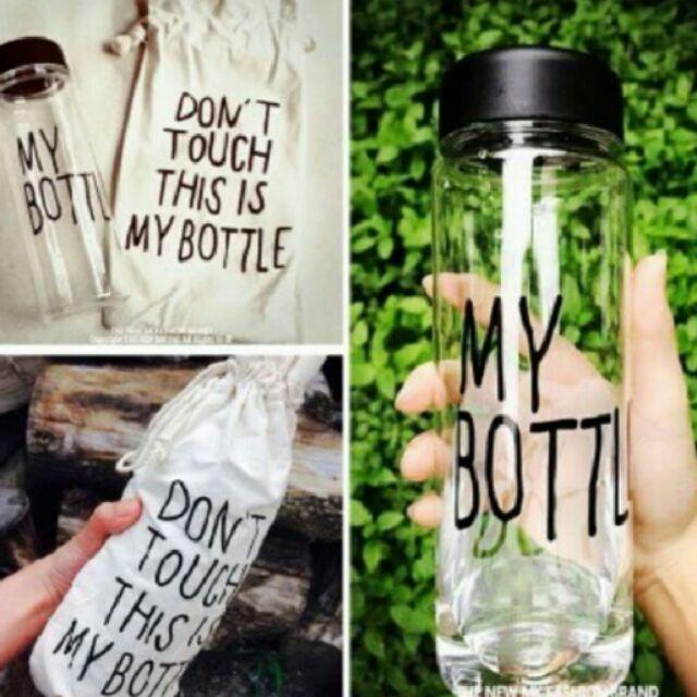 ~買MY BOTTLE 杯送麻布套玻璃水杯汽水瓶隨身杯隨身瓶水果飲料瓶500ml