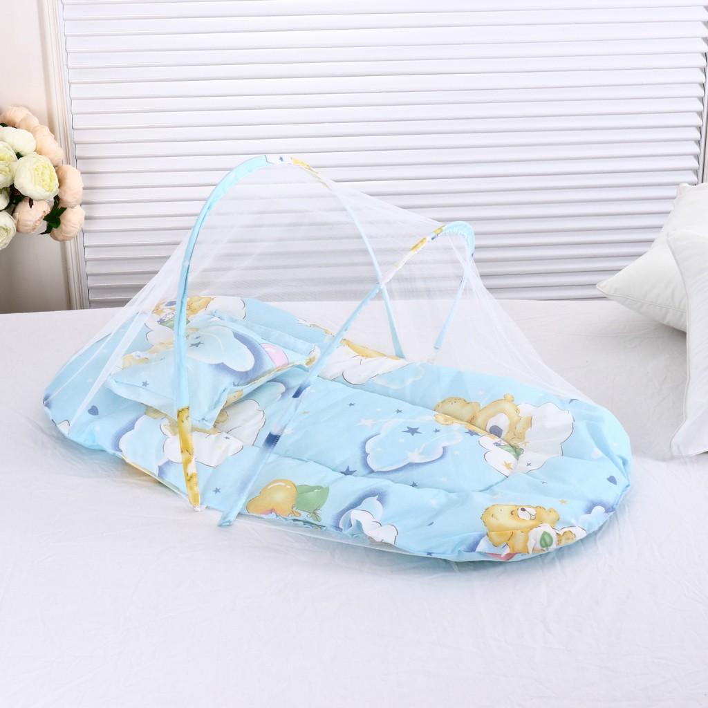 大號可擕式折疊免 寶寶蚊帳帶睡墊枕頭蚊帳超柔軟嬰兒蚊帳