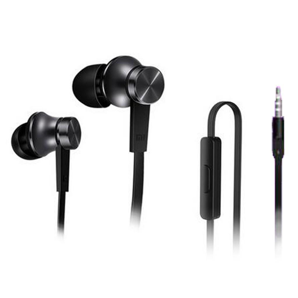 正品手機線控音樂耳機入耳式耳塞Xiaomi 小米小米活塞耳機黑色