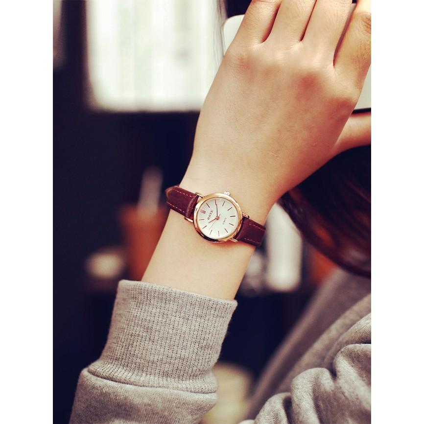 女表 復古休閒真皮手錶女學生簡約潮小錶盤細帶防水石英表手錶 表 表手錶 表 表手錶 表 表