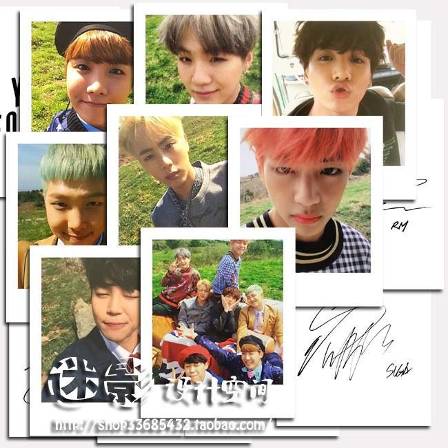 防彈少年團BTS 花樣年華Young Forever 自製專輯拍立得小卡一組8 張