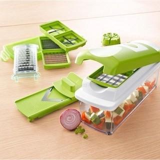 衝 價多 蔬果切菜器切絲切片切塊切絲神器水果沙拉機廚房神器碎菜器12 合1
