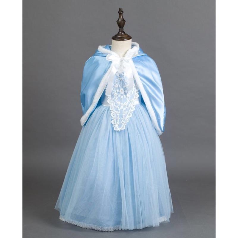 灰姑娘公主禮服披肩兩件套公主裙婚紗蓬蓬裙表演服攝影服聖誕派對服萬聖節冰雪奇緣