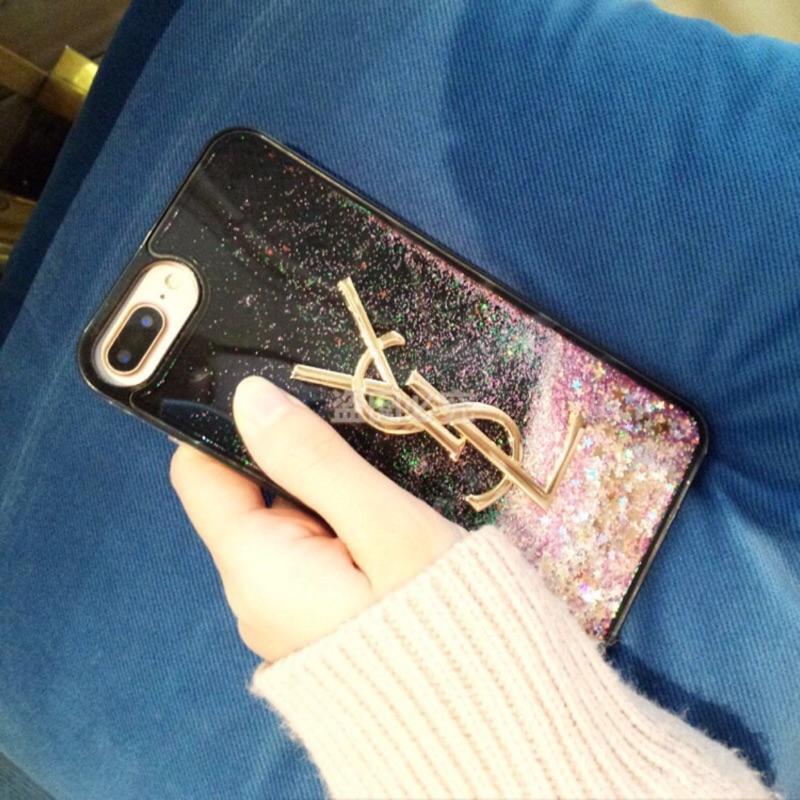 圣羅蘭YSL 星辰流沙iphone7plus 手機殼蘋果6splus 女款軟殼大氣