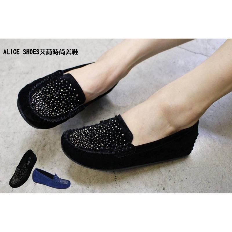 ALICE SHOES 艾莉易購網請把握搶鮮擁有超軟水鑽娃娃鞋3802 懒人鞋莫卡辛豆豆鞋