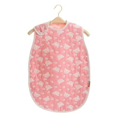 ~八層紗~小熊款純棉兒童小孩嬰兒背心睡袋防踢被透氣吸汗防感冒 佳不買可惜兩種尺寸可挑