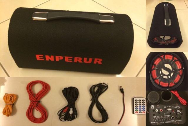 ENPERUR EP033 隧道型10 吋MP3 插卡式汽車電腦音箱12V 110V 另售