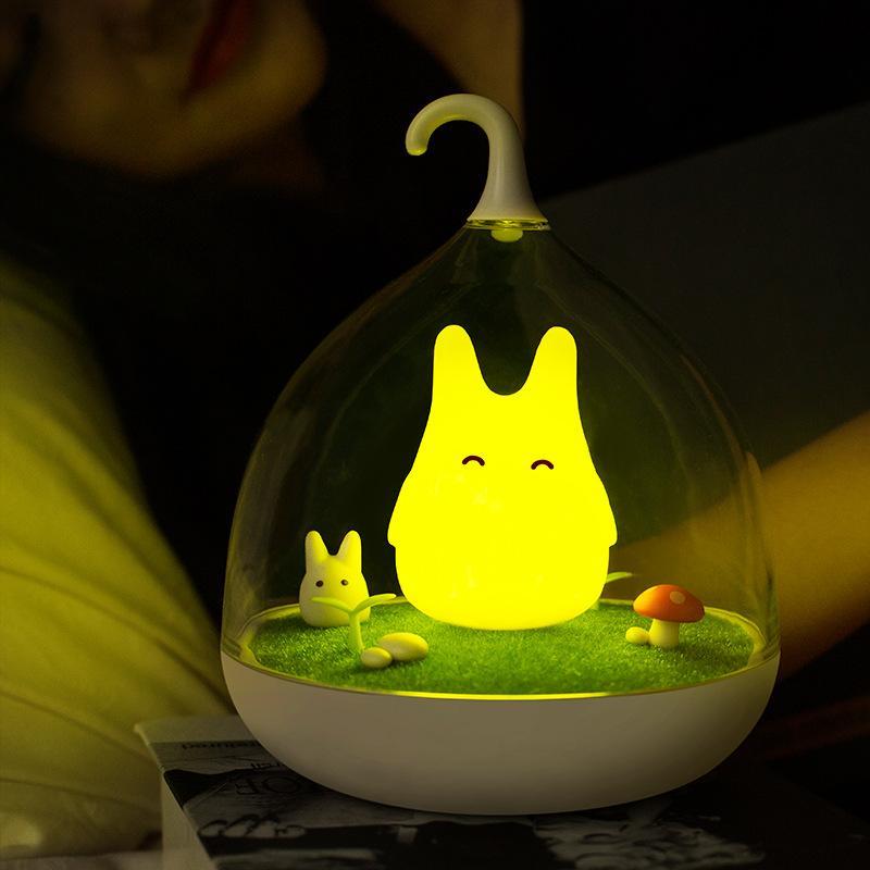 奇幻精靈微景觀小夜燈觸碰感應led 新奇特 USB 家居檯燈