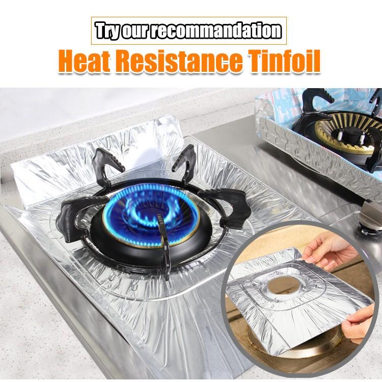 廚房用品檔油板隔油鋁箔防油擋板灶台清潔墊子隔熱墊防油污墊