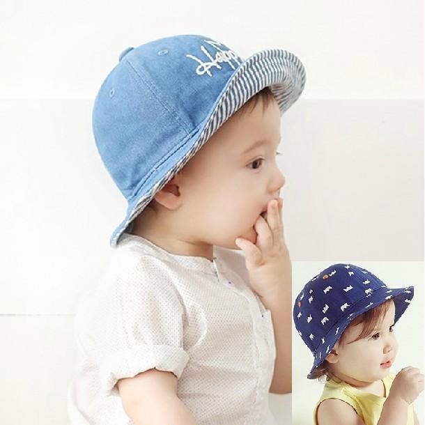 ♡媽咪寶貝♡~ ~韓款寶寶皇冠牛仔帽遮陽帽漁夫帽