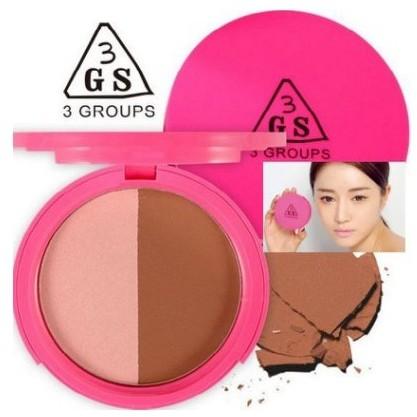MeowZ 喵莉 韓國3GS 尹恩惠代言雙色修容粉餅亮粉金屬蘋果光高光提亮打亮陰影瘦臉V