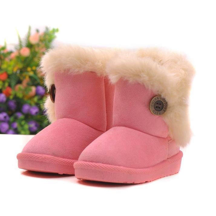 女童毛茸茸羊羔絨 款雪靴