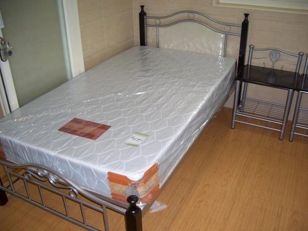 ~溫馨小屋~A 型印花布單人彈簧床墊 處理舊床墊;台北 免 包送到家