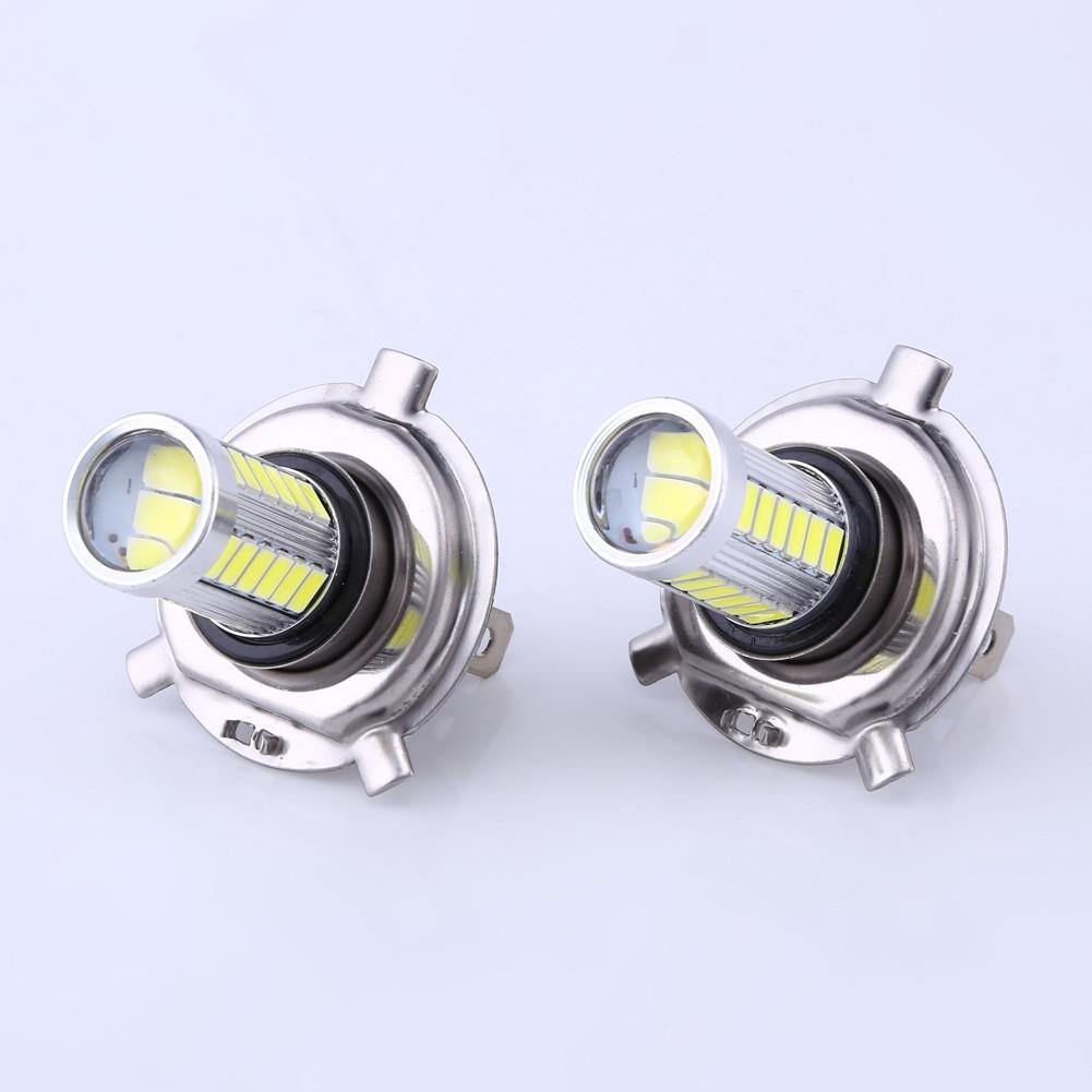 2 個H4 5630 33smd LED 燈泡汽車led 霧燈摩托led 大燈車燈