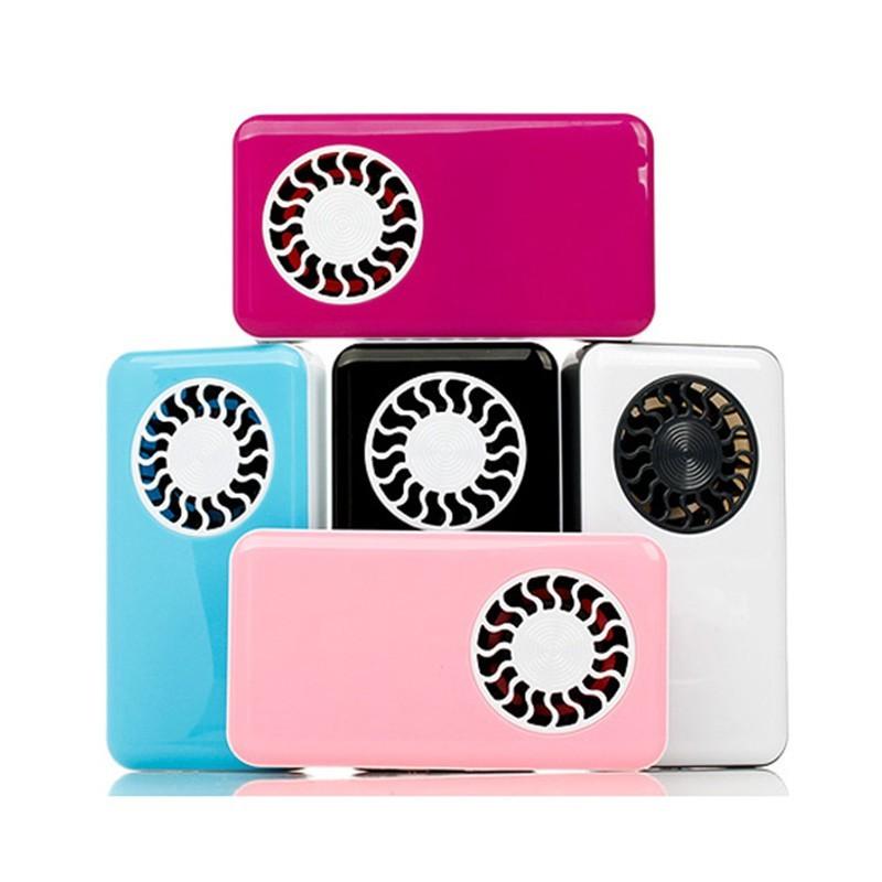 !607 New ! 手持式USB 迷你空調冷卻器糖果色風扇可充電電池學校宿舍寶寶