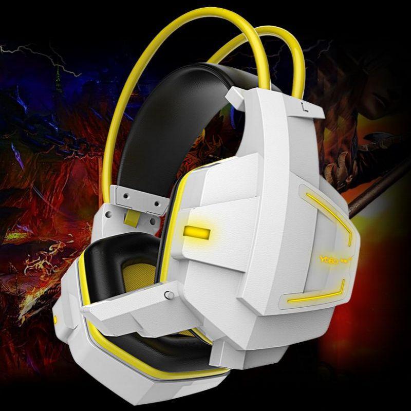 工廠直發友柏X5 七彩呼吸LED 燈頭戴式重低音耳機耳機麥克風抗暴力電競耳機LOL 英雄聯