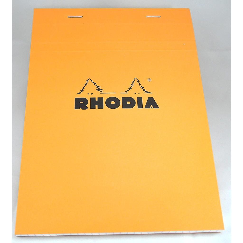 開學季 中A5 橙點陣方格Rhodia 上翻可撕方格點點筆記本鋼筆墨水