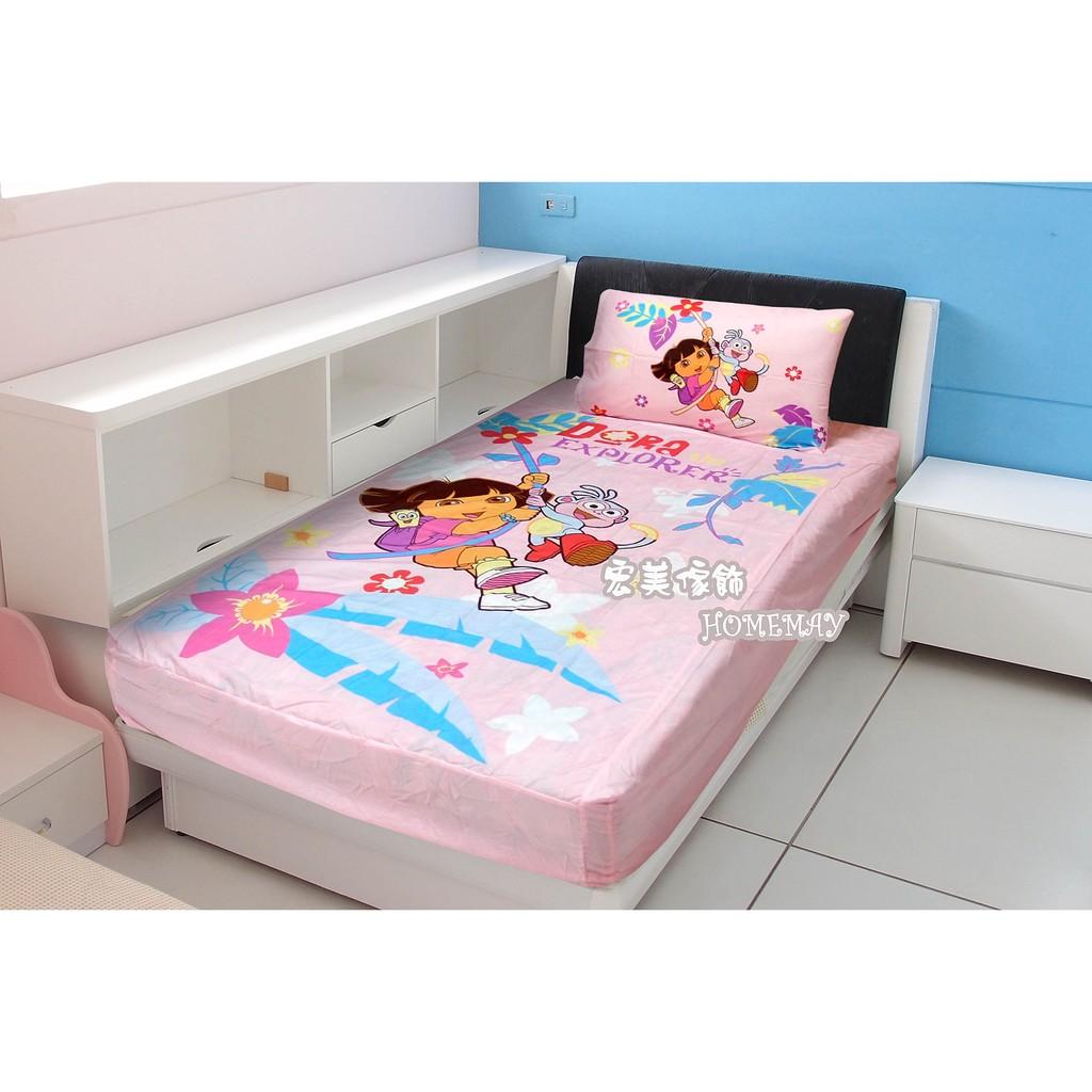 ~宏美傢飾~兒童睡袋單人涼被被套床包小童枕朵拉Dora 森林玩伴 卡通  幼稚園