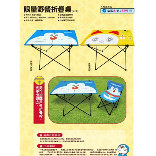哆啦A 夢野餐桌哆啦美款黃色