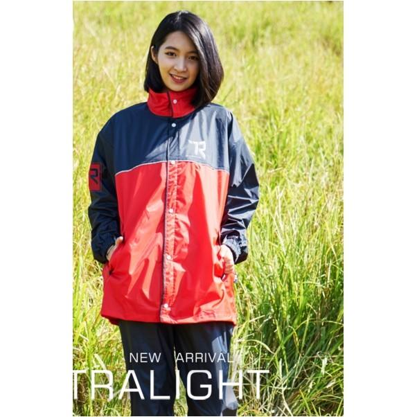 雙龍牌迷幻超輕量風雨衣兩件式防水套裝風衣雙配色全件透氣內網反光條腰身調整