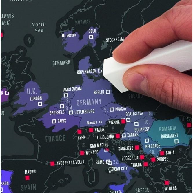 旅遊 Scratch Map 地圖刮刮樂地圖城市版收藏品掛畫