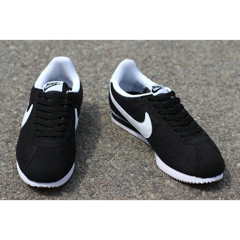 正品NIKE CLASSIC CORTEZ NYLON 阿甘鞋輕量休閒慢跑鞋男女鞋黑白