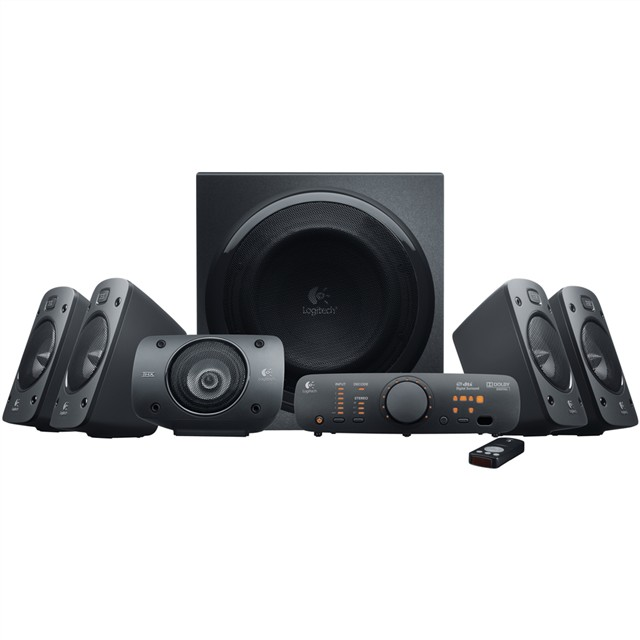 Logitech 羅技環繞音效音箱系統Z906 可連接六種裝置,輕鬆存取各種音樂